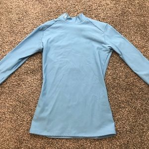 Light blue Under Armour cold weather top